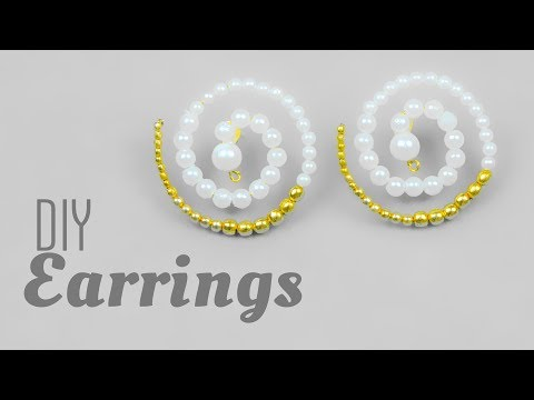 DIY Designer pearl earrings in 2 minute | How to make | jewelry making for beginners| Beads art