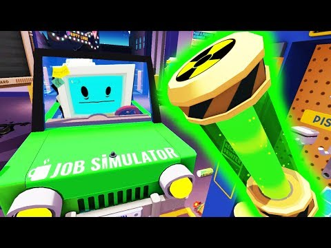 Building a Nuclear Powered Car! - Job Simulator Infinite Overtime - HTC Vive Pro VR