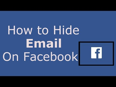 How to Hide Email Address on Facebook