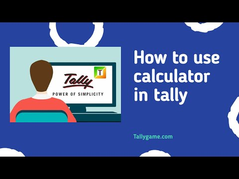 how to use calculator in tally -tally calculator