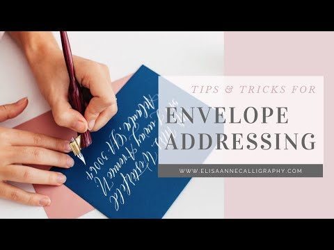 Addressing Envelopes in Calligraphy as a Left-Handed Calligrapher