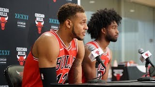 2019-20 Bulls Media Day: Daniel Gafford and Coby White