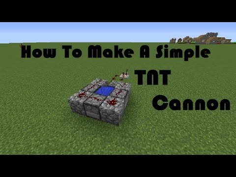 How to Make a Rapid Fire TNT Cannon in Minecraft - Minecraft Tutorials (ANY VERSION)