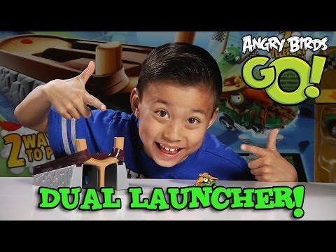 Angry Birds GO! DUAL LAUNCHER Set & STUNT GAMEPLAY!