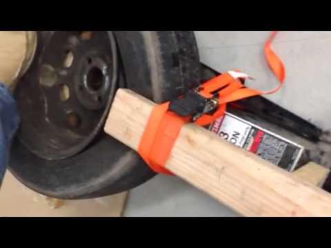 How to break a tire bead bead breaker