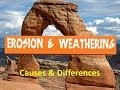 Erosion and Weathering for Kids -Causes and Differences