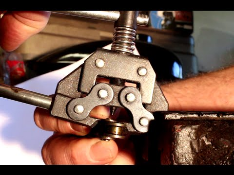 How Break or Cut Motorized Bicycle Chain Using a Chain Breaker Tool