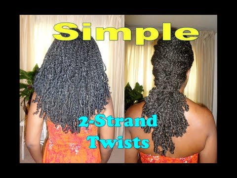 Simple Two Strand Twists w/Natural Looking Extensions (For Long and Short Hair)