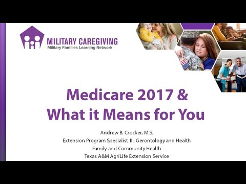 Medicare 2017 & What it Means for You