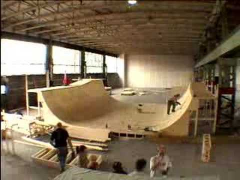 build half-pipe in time-lapse