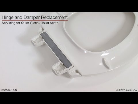 Hinge and Damper Replacement - Quiet-Close Toilet Seats