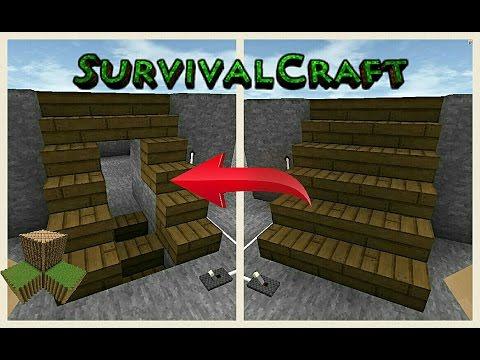 HIDDEN STAIRCASE DOORWAY - Survivalcraft 2 | Survivalcraft Piston