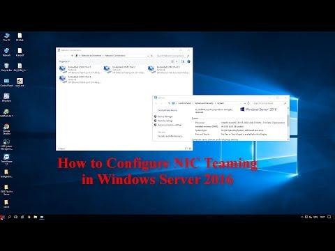 Configure NIC Teaming in Windows Server 2016