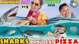 SWIMMING with SHARKS in BAHAMAS! FUNnel V Exuma Excursion Tour from ATLANTIS Part 2