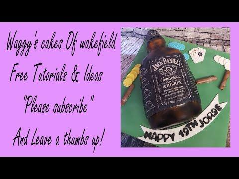 making a jack Daniels bottle cake