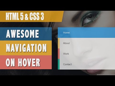 Create a beautiful navigation with Html 5 css 3 and Bootstrap
