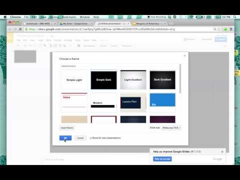 How to Make a Presentation in Google docs
