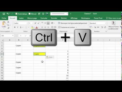 Copier-Coller dans Excel (raccourcis, poignée de recopie, ...)