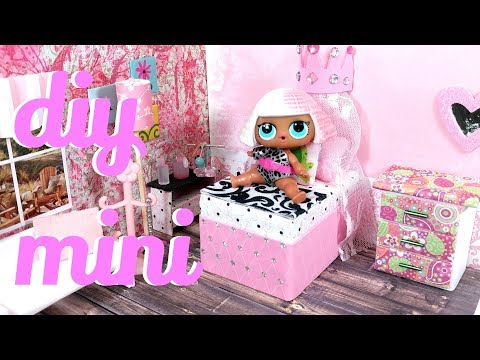 DIY Miniature Princess Bed for LOL, LPS, and Small Dolls