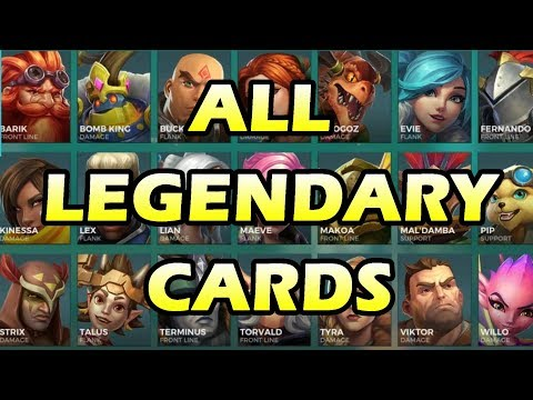 ALL 136 Level 5 Legendary Cards - Paladins OB64 PTS (ALL CHARACTERS)