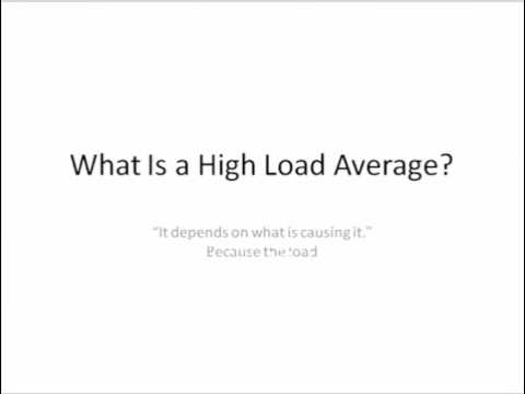 Load Averageexplaination in Brief