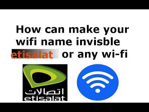 how to make your wifi invisible (hide)كيف تجعل الواي فاي الخاص بك غير غير مرئي