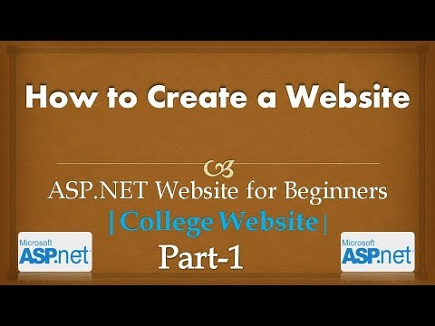 How to create ASP.NET Website for Beginners | College Website| #CODERBABA | Part-1 Hindi