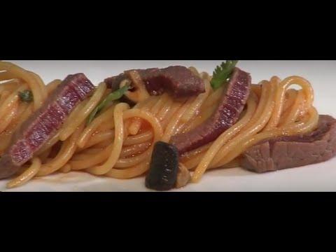 Pasta recipe: Spaghettini De Cecco with Shitaki Mushroom and beef