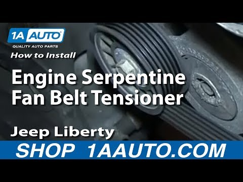 How To Install Replace Engine Serpentine Fan Belt Tensioner 3.7L 2004-13 Jeep Liberty