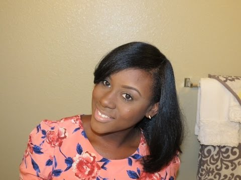 How I Maintain my Straightened Natural Hair & Length Preview