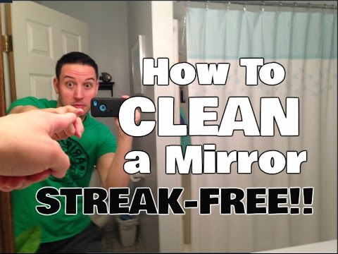 How to Clean a Mirror in 3 Easy Steps | Streak Free Secret!