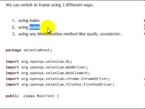 Handle frames in selenium webdriver in Java