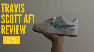 ab7543ad6be Travis Scott Air Force 1 Unboxing + Onfeet from Tattoo