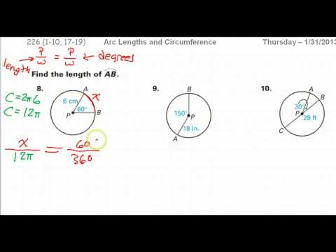 How to Find the Arc Length Given the Radius and an Angle