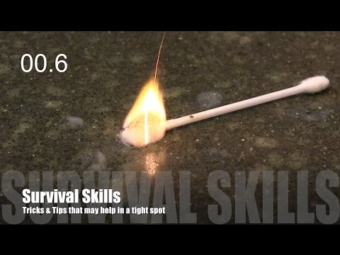 Survival Tips: Fire without matches - cotton bud & lip balm