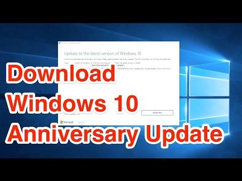 How to Download Windows 10 Anniversary Update?