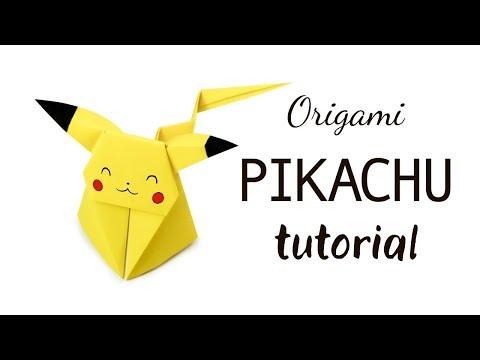 Origami Pikachu Tutorial ★ Pokemon DIY ★ Paper Kawaii