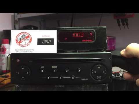 Renault Clio 1.2 how to enter radio codes.