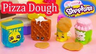 Shopkins Frozen Pa Pizza Dough Class Season 1 and 2 Playing Video Playdoh Fun Cookieswirlc