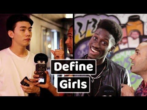 Guys defining Girls in one word. 여자를 한마디로