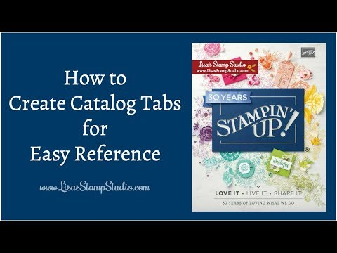 How to Create Catalog Tabs for Easy Reference