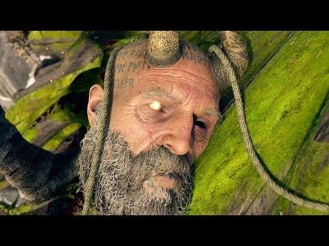 God of War PS4 - Mimir tells Kratos to cut off his Head