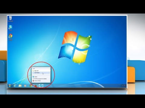 Remove Skype® from the Taskbar in a Windows® 7 PC