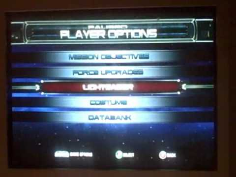 Star Wars The Force Unleashed - How to Get a Black Light Saber