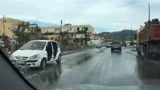 Hurricane Irma Damage driving from Sandy Ground to Marigot on 11/8/2017 - (Part 2)