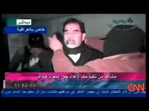 Video Of Saddam Hussein Being Hung