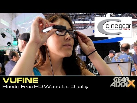 Vufine Hands-Free HD Wearable Display (Cine Gear Expo 2016)