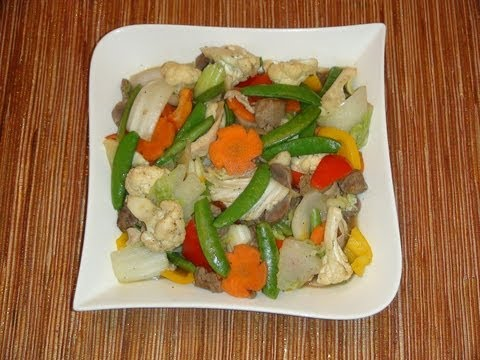PINOY RECIPE - CHOP SUEY [STIR FRY MIXED VEGETABLES WITH CHICKEN GIZZARD]