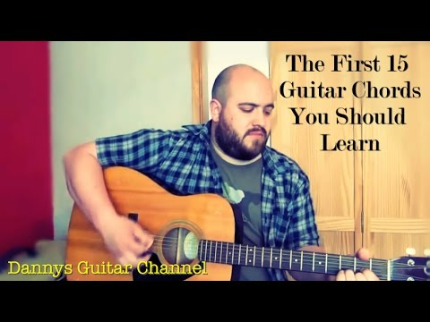 Guitar Chords - The First 15 Guitar Chords you Should learn - Beginner Guitar Lesson