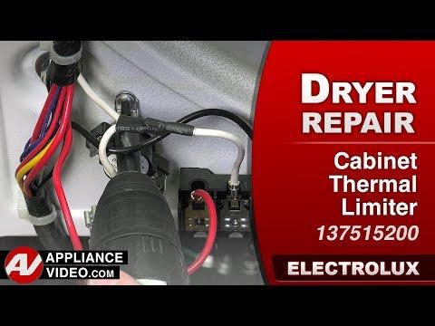Electrolux Dryer - Cabinet Thermal Limiter - Diagnostic & Repair